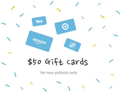 50 dollar gift card for new patients